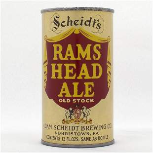 Rams Head Ale Instructional Flat Top CLEAN USBC 11833