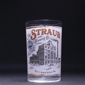 Straub Factory Scene Pre-Pro Fired-on Label Drinking