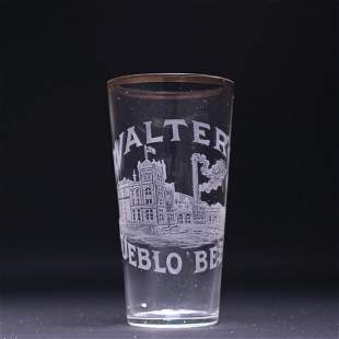 Walters Factory Scene Pre-Prohibition Etched Drinking