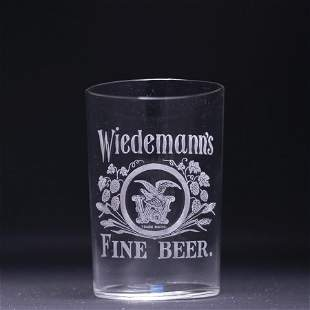 Wiedemanns Pre-Prohibition Etched Drinking Glass