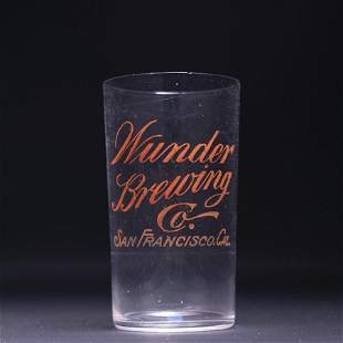 Wunder Brewing Pre-Prohibition Drinking Glass