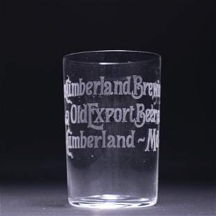 Cumberland Brewing Pre-Prohibition Etched Drinking