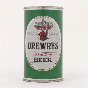 Drewrys Extra Dry Beer Green Sports Can 566