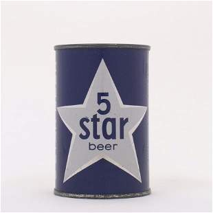 Five Star Beer Can 10 oz 6421