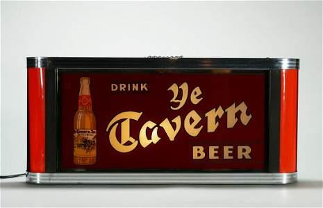 Ye Tavern Beer Lighted Back Bar Sign