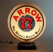 Arrow 77 Gillco Glass Globe Lighted Advertising Sign