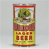 Willows Lager Beer Flat Top Can 146-7