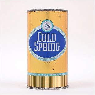 Cold Spring Golden Brew Flat Can 506