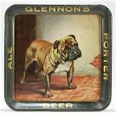 Glennons Ale Beer Porter Bulldog Tray