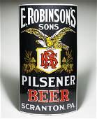 E. Robinsons Sons Pilsener Beer Porcelain Corner Sign