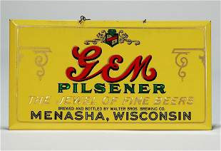 GEM Pilsener Menasha Wisconsin Celluloid TOC PRISMATIC