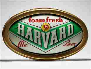 Harvard Foam Fresh Ale Beer Convex Oval Sign