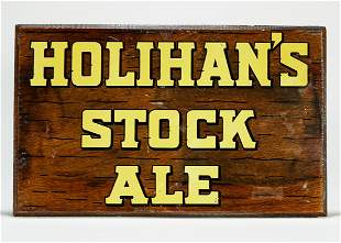 Holihans Stock Ale Wooden Sign