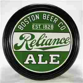 Boston Beer Co Reliance Ale Pre-Proh Porcelain Sign