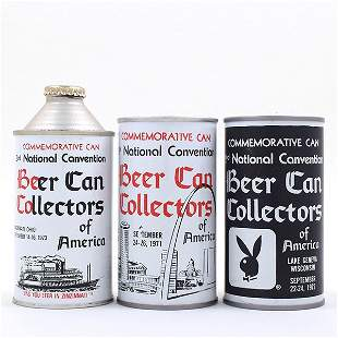 BCCA CANvention Cans 1-2-3 LOT OF 3