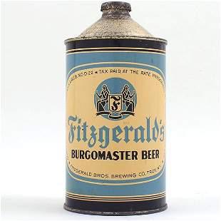 Fitzgeralds Burgomaster Beer Quart Cone 209-14