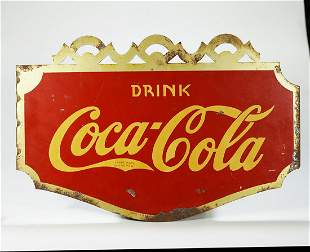 Coca-Cola Diecut Tin Flange Sign