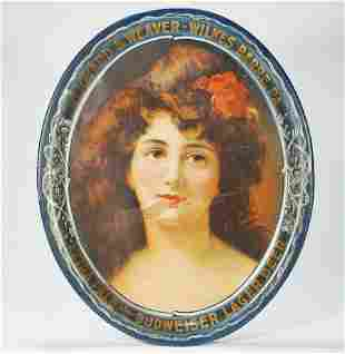 Reichard Weaver Budweiser Lager Victorian Lady Pre-proh
