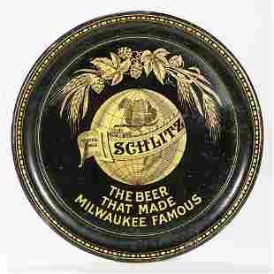Schlitz Trains Around World Globe Pre-prohibition Beer