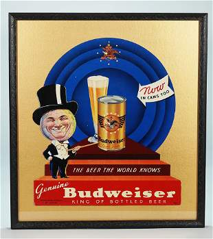 Budweiser Beer Can Promoting Diecut Sign