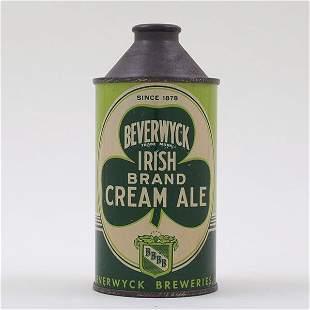 Beverwyck Irish Brand Cream Ale Cone 1878 152-6