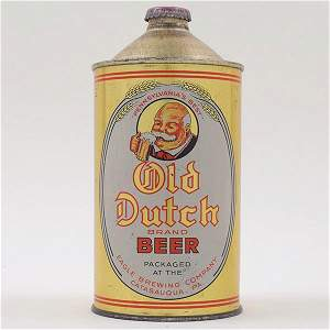 Old Dutch Beer Quart Cone RARE WOW 216-1