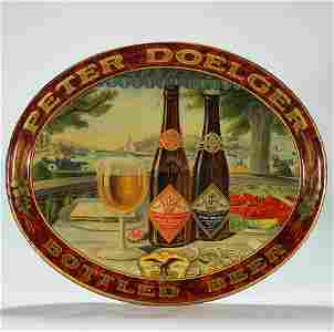 Peter Doelger Pre-prohibition Tin Advertising Tray