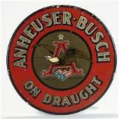 Anheuser-Busch On Draught Tin Sign