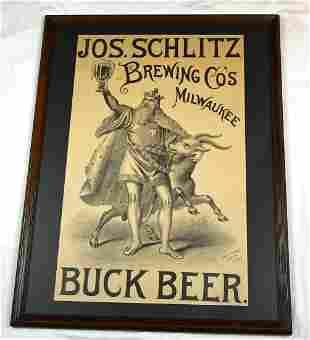 NABA LOT- Schlitz Buck Beer King Bock Goat c 1880s