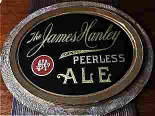 James Hanley Peerless Ale ROG Pre-prohibition Sign RARE