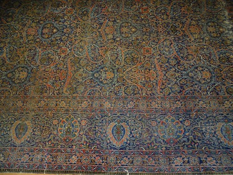 Early (Kashan-Mohtasham?) Palace Size Oriental Rug - 2