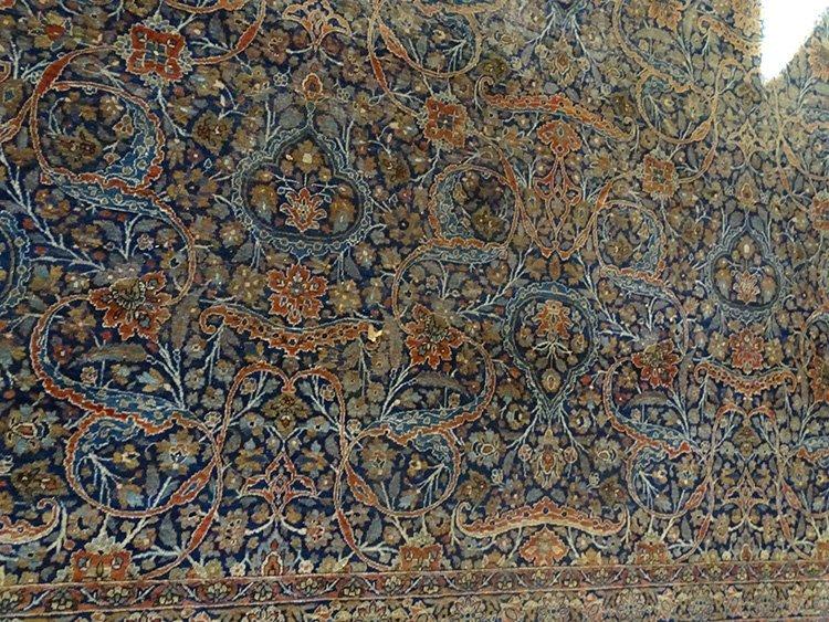 Early (Kashan-Mohtasham?) Palace Size Oriental Rug - 3