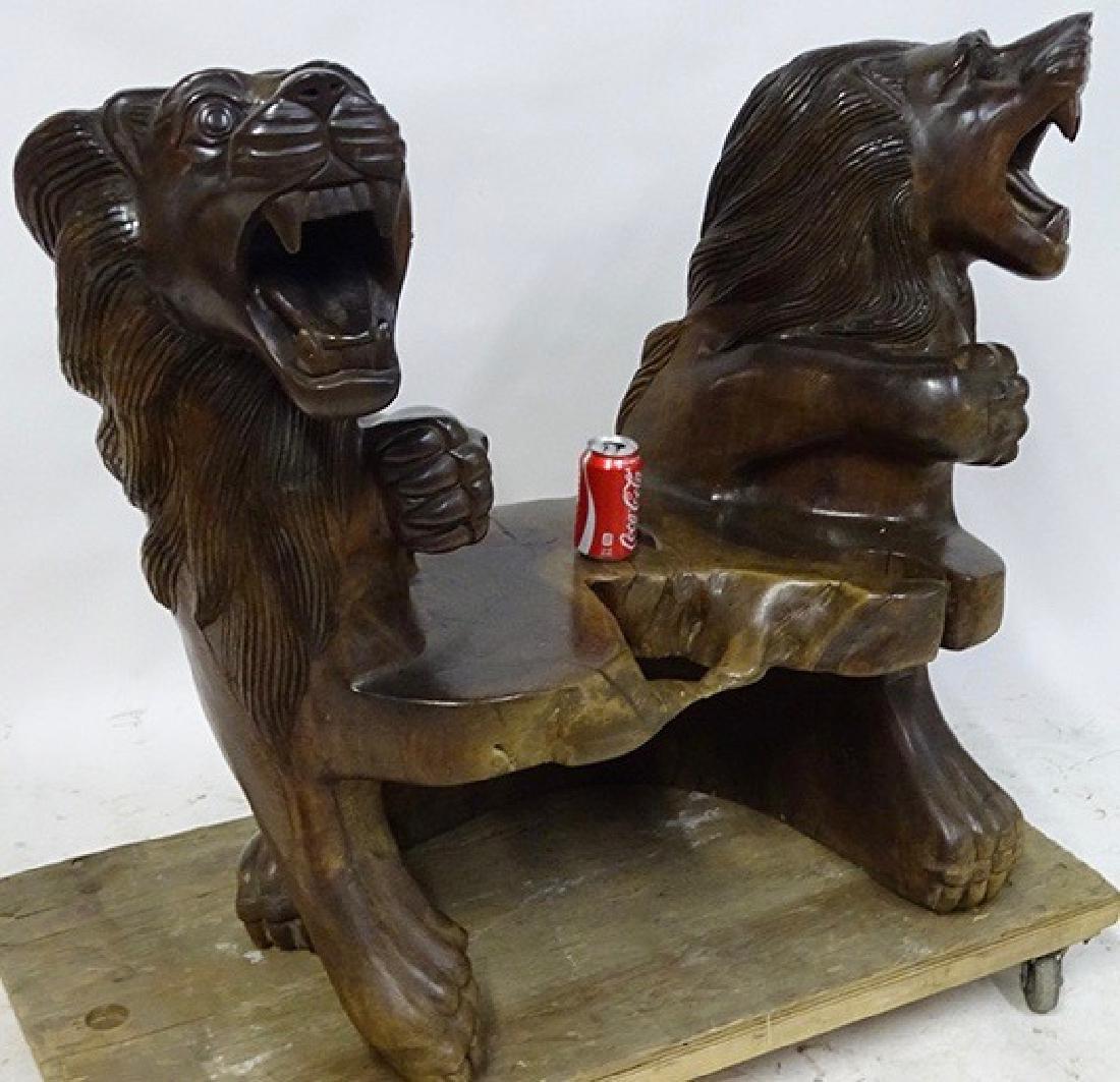 Lion Bench - 2