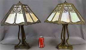 Matching Pairpoint Panel Lamps