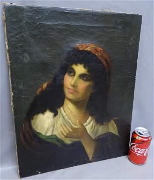Gypsy Lady Oil on Canvas