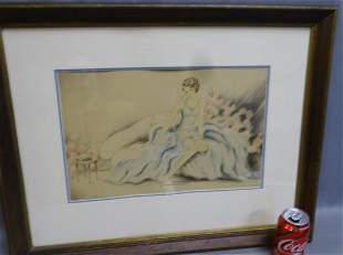 Lady Sitting on Sofa