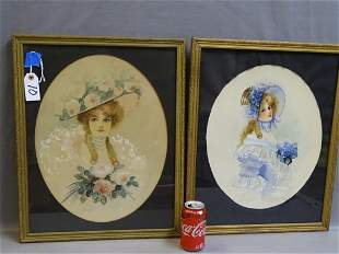 Pair of Victorian Ladies