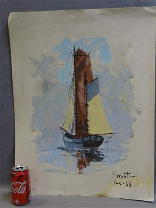 Boot Painted on Paper