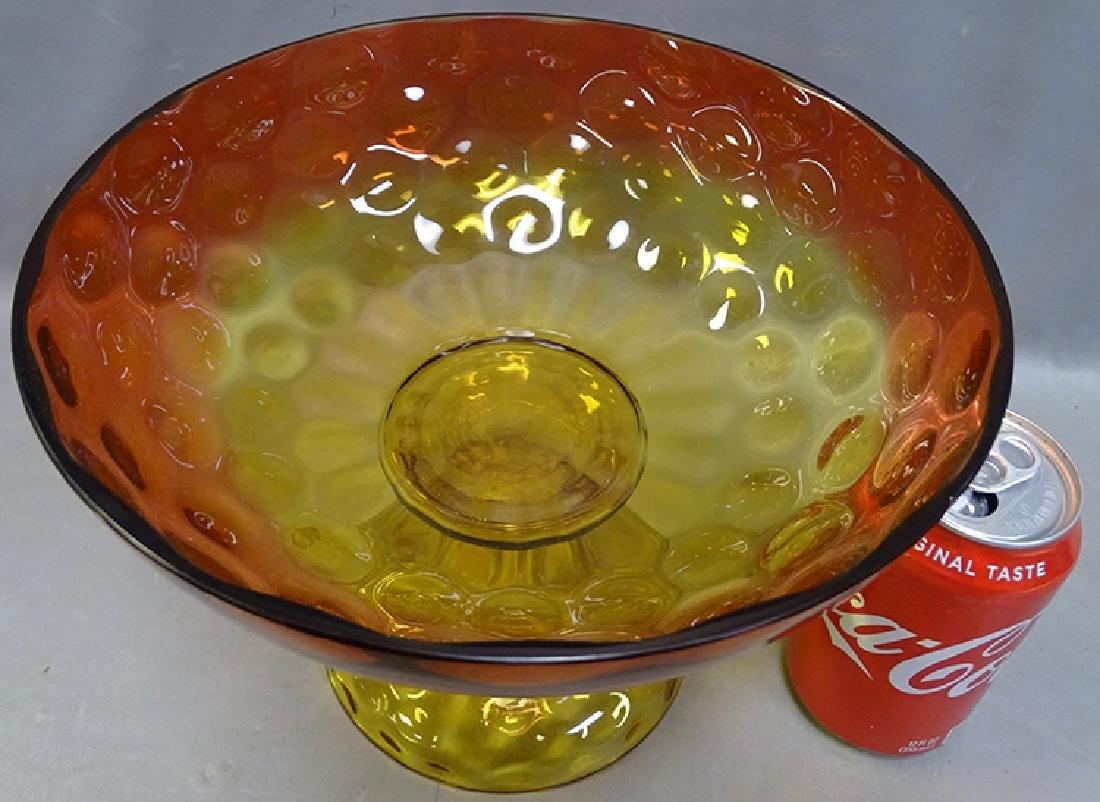 Amberina Footed Bowl - 2