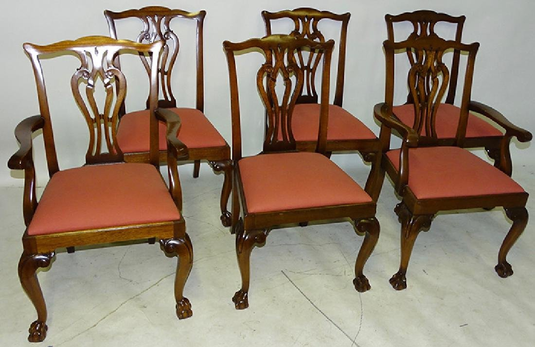 6 Set Of Ardley Hall Chippendale Chairs Jan 27 2019 Ralph