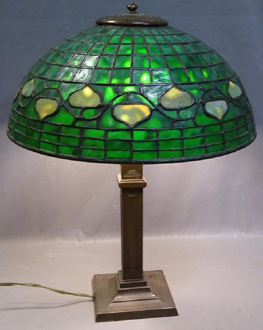 Leaded Acorn Table Lamp (Tiffany)