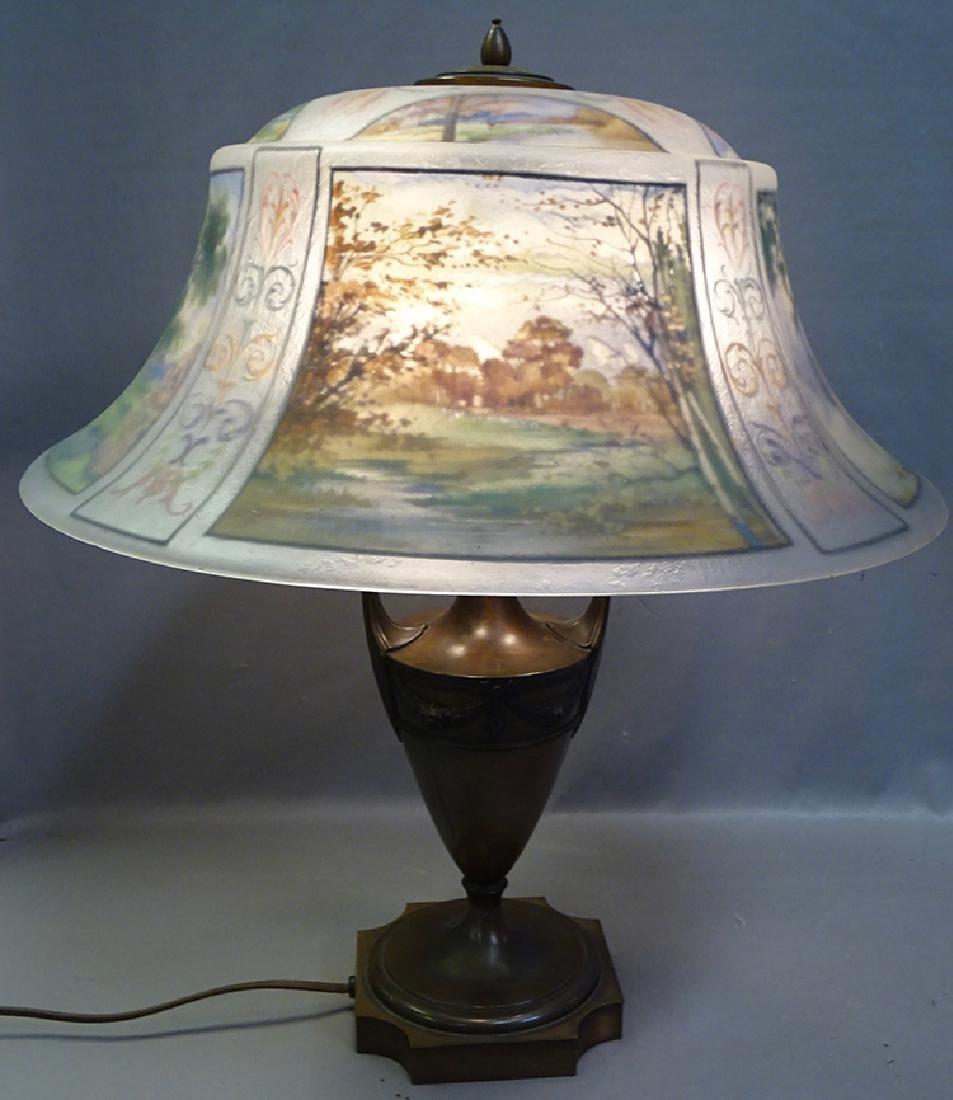 Pairpoint 4 Seasons Reverse Painted Table Lamp