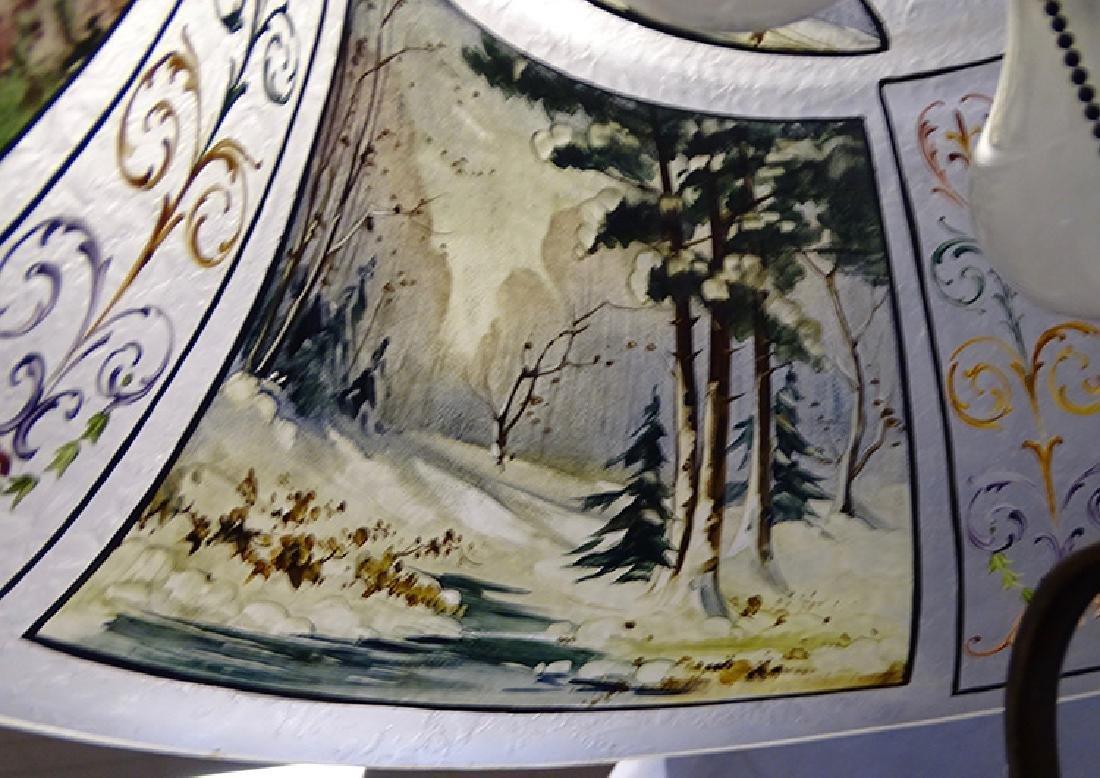 Pairpoint 4 Seasons Reverse Painted Table Lamp - 5