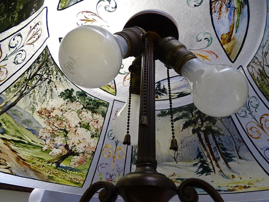 Pairpoint 4 Seasons Reverse Painted Table Lamp - 7
