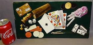 Porcelain Plaque with Gambling Motif