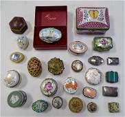 25 Piece Small Pill Box Collection