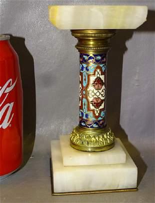 Bronze and Onyx Pedestal