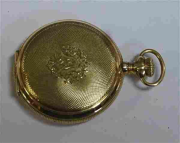 14k Gold Closed Case Waltham Pocket Watch