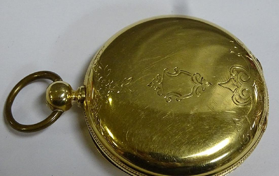 Large 18k Gold National Pocket Watch