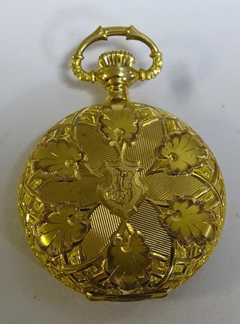 Fabulous 14k Gold Pocket Watch with Diamond